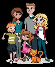Graphique d'une famille