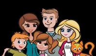 Petite icône représentant une famille