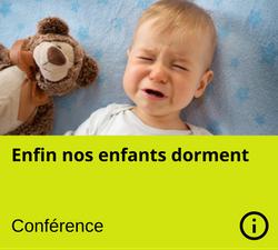 conference sommeil - enfant qui ne dort pas - manon gauthier - Nanny secours