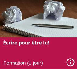 Formation - Ecrire pour etre lu - Manon Gauthier - Nanny secours