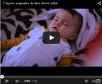 7 façons originales de faire dormir bébé