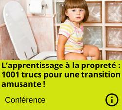Conférence: L'apprentissage à la propreté : 1001 trucs pour une transition amusante !