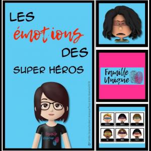Les émotions Super-héros - Famille unique