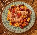 Salade amusante au thon et poivrons