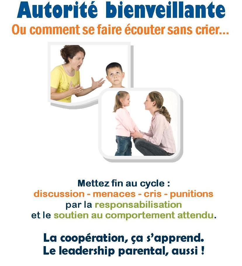 Conférence - Autorité bienveillante - Manon Gauthier - Nanny secours