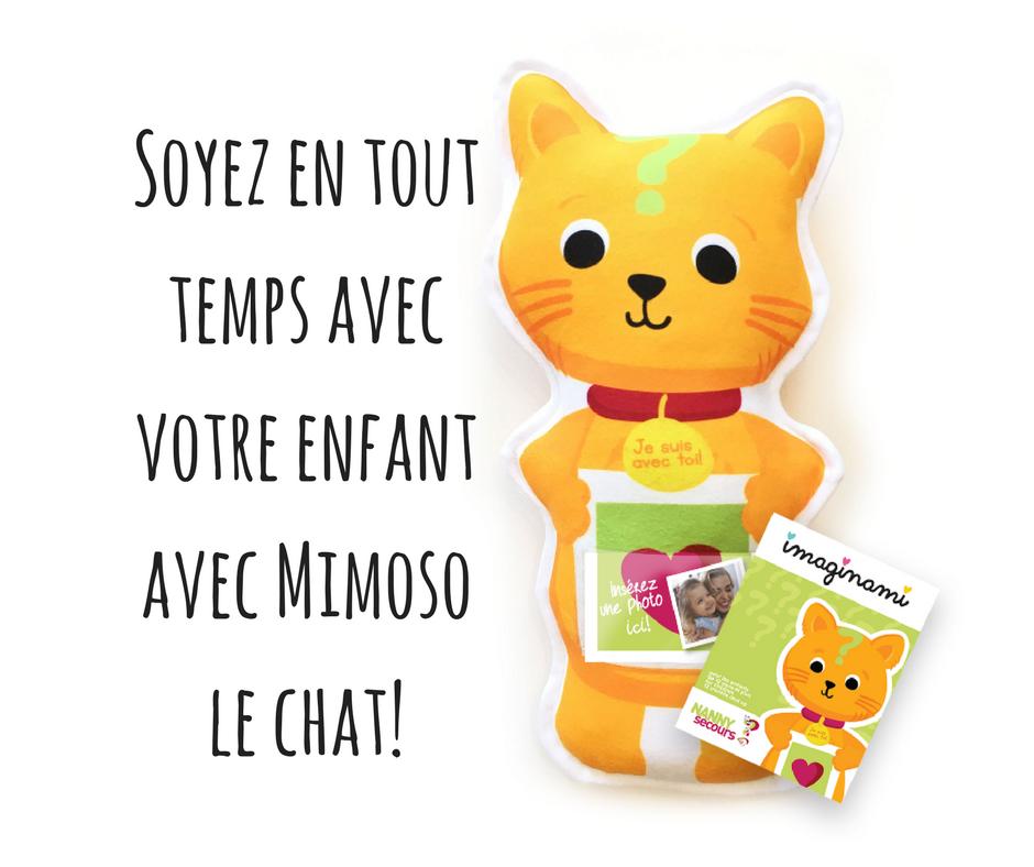 Mimoso le chat – Peluche pédagogique pour faciliter l'adaptation à la garderie